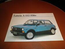 Lancia A112 Elite prospekt brochure von 8-1981