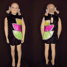 Trippin Over You Dance Costume Go Go Tap Sequin Dress Clearance Child Small