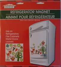 New Christmas House Refrigerator, Car, Dishwasher, Metal Doors Magnet ~ Tree
