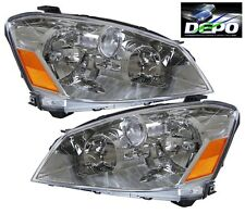 OE Style Chrome Head Light Halogen DEPO PAIR Fits 2005-2006 Nissan Altima