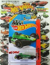 Hot Wheels 2014 #162 Arrow Dynamic™ CLEAR GREEN,1stCOLOR,ORANGE RIM,BLACK MC5.US