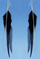 F3509 fashion black Feather chain cute dangle earrings noble women jewelry hot