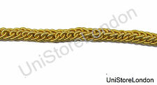 CATENA Gimp pizzo uniforme Rank Intrecciata Oro 10mm venduti da metro R1475