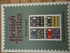 ROYAL MAIL A4 POST OFFICE POSTER 1982 BRITISH TEXTILES WILLIAM MORRIS STRAWBERRY