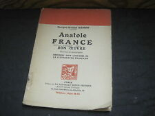 Georges-Armand MASSON: Anatole France, son oeuvre.