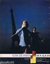 Publicité Advertising 096 1967 Bourjois Soir de Paris eau de toilette