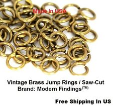 22 Ga Vintage  BRASS JUMP RING (3 MM - Pack Of 375)   (SAW CUT)