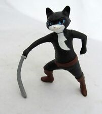 McDonald's Toy Black Cat Shrek Puss In Boots Kitty Figure Figurine Cake Topper