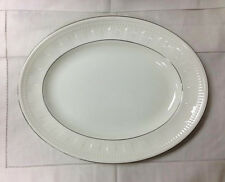 "WEDGWOOD ""COLOSSEUM PLATINUM"" OVAL PLATTER 14"" BONE CHINA NEW MADE IN ENGLAND"