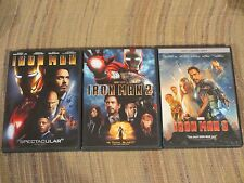 IRON MAN 1 2 3 Trilogy Marvel DVD Set *Authentic* VERY GOOD - Beware of FAKES