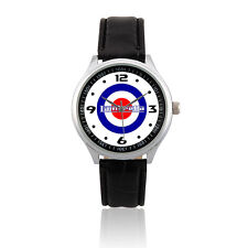 (L213) LAMBRETTA VESPA MOD TARGET SCOOTER Leather Strap Watch