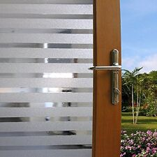 Static Glass Window Privacy Film Strip Frosted Decorative Home Office 78.7""
