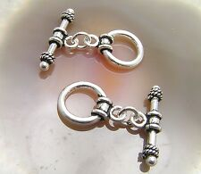 2 Bali Sterling Silver Fancy Toggle Clasps  #876