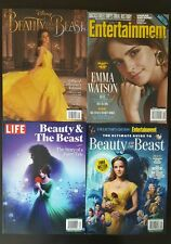BEAUTY AND THE BEAST COLLECTOR'S MAGAZINE'S  (EMMA WATSON) BRAND NEW 4 pack set