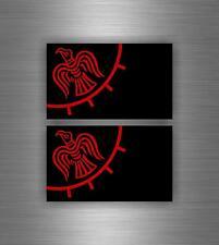 2 x aufkleber tuning sticker wikinger raven odin viking vinland flagge fahne r3