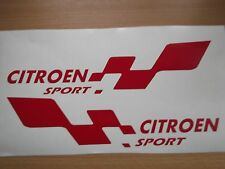 CITROEN sport  LARGE car vinyl sticker decal x2