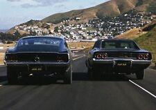 Steve McQueen Bullitt Ford Mustang Auto Chase Scena POSTER