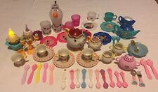 Disney Princess Pretend  Tea Set Mixed Lot Talking Mrs Potts Light Up Cupcake