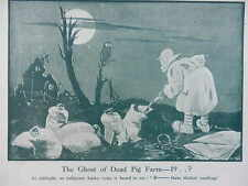 1917 BRUCE BAIRNSFATHER CARTOON - THE GHOST OF DEAD PIG FARM WWI WW1