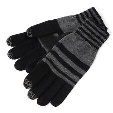 SmarTouch Chunky Knit 3 Finger Touchscreen Gloves Black/Grey