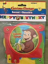Curious George Party Supplies-Banner Happy Birthday