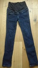H & M overbump skinny slim maternity jeans size 38 UK 12 EXCELLENT CONDITION