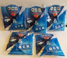 brand new LOT of 5 bags OCB cigarette FILTER TIPS  combibag 50 filters+1 paper