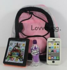 "Backpack Tablet Phone Soda Set for 18"" American Girl Doll Making it More Fun!"