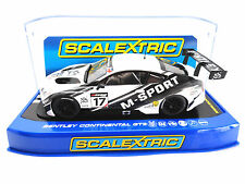 "Scalextric ""M-Sport"" Bentley Continental GT3 DPR W/ Lights 1/32 Slot Car C3595"