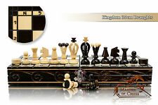Stunning KINGDOM 36cm DRAUGHTS - Chess and Checkers Wooden Set! Bargain!