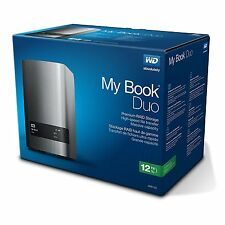 WD 12TB My Book Duo Desktop RAID External Hard Drive - USB 3.0 - WDBLWE0120JCH-N