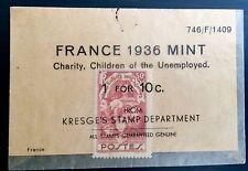 ANTIQUE RARE COLLECTIBLE AMAZING FRENCH FRANCE MINT POSTAGE STAMP