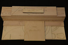 Giant 1/4 Scale GEE BEE R1 Super Sportster Laser Cut Short Kit & Plans 75 in. WS