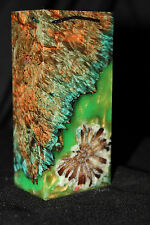 STABILIZED MAPLE BURL WOOD HYBRID VAPE MOD LUMBER BLANK KNIFE SCALES HANDLE(7410