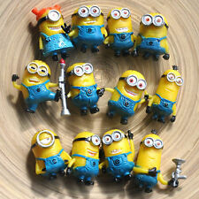 New 12pcs Mini Minions Despicable Me 2 Character Movie Auction Figures Baby Toy