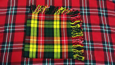 "TC da uomo Scozzese FLY PLAID BUCHANAN Tartan 48 ""x48"" / BUCHANAN Tartan Kilt Plaid"