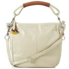 Barr + Barr Genuine Calfskin Leather Hobo with Removable Straps Oatmeal