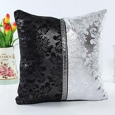 Solid Glitter Pillow Waist Cushion Cover Case Lounge Cafe Home Sofa Bed Decor