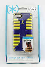 Speck CandyShell Grip Hard Shell Snap Cover Case for iPhone 5C (Blue/Yellow) NEW