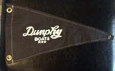 Vintage Dunphy Boats Nautical Yacht Maritime Grommet Style Pennant Launch Flag