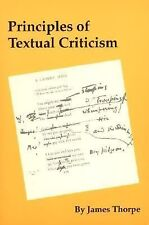 Principles of Textual Criticism, Literature, Literary Criticism, Printed Books,,