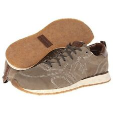 JOHN VARVATOS CONVERSE *RACER OX* Dark Olive Leather Sneakers EUR-41 US-8 UK-7