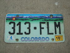 2010 COLORADO Beautiful License Plate 313 FLM CO