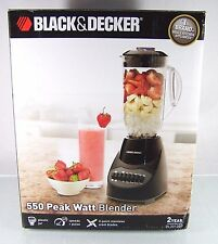 NEW~BLACK&DECKER~550 PEAK WATT BLENDER~6 CUP PLASTIC JAR~10 SPEED&PULSE~BL2012BP