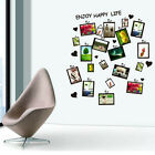 DIY Black Picture Photo Frame Art Decal Home Room Office Decor Wall Sticker