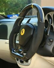 Ferrari F360 Modena carbon flat bottom steering wheel color ring stitching