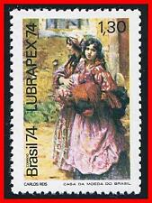 BRAZIL 1974 COSTUMES & PAINTING MNH PORTUGAL STAMP SHOW