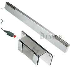 Wired IR Ray Sensor Bar Infrared + Stand for Wii Console Game Accessories Silver