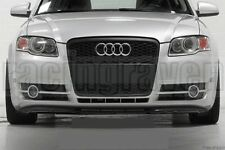 AUDI 2005-2007 A4 B7 RS STYLE MATTE BLACK MESH FRONT GRILLE