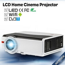 LED Wireless Home Theatre Projector Android WIFI Digital TV DVB-T HDMI USB WLAN